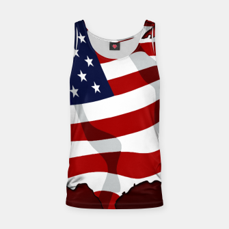 American Flag On Red Tank Top obraz miniatury
