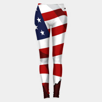 Imagen en miniatura de American Flag On Red Leggings, Live Heroes