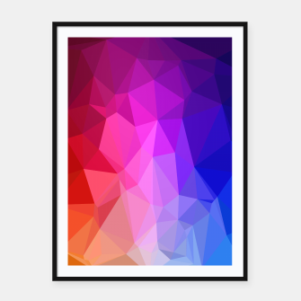 Thumbnail image of Polygon Art - 02 Framed poster, Live Heroes