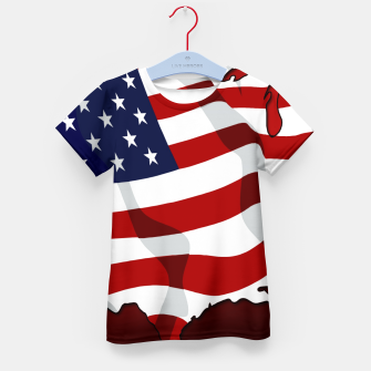 American Flag On Red Kid's t-shirt obraz miniatury
