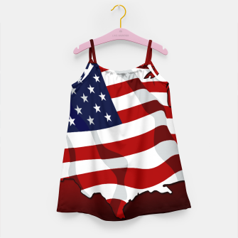 Miniaturka American Flag On Red Girl's dress, Live Heroes
