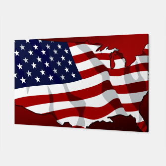 Imagen en miniatura de American Flag On Red Canvas, Live Heroes