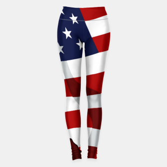 American Flag On Red Leggings obraz miniatury