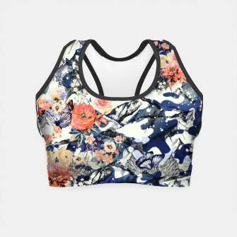 Flowery Camouflage 01 Crop Top thumbnail image