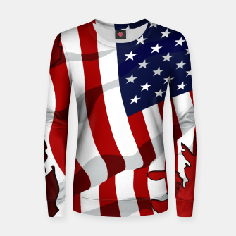 Miniaturka American Flag On Red RL270 Woman cotton sweater, Live Heroes