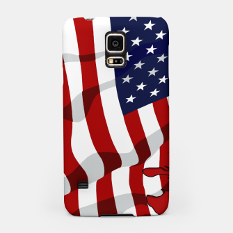 Miniatur American Flag On Red RL270 Samsung Case, Live Heroes