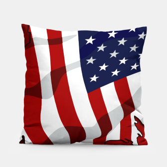 Miniaturka American Flag On Red Pillow, Live Heroes