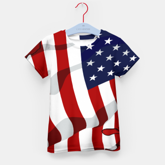 Miniaturka American Flag On Red RL270 Kid's t-shirt, Live Heroes
