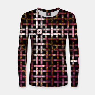 Thumbnail image of Metallic Mesh Weave Woman cotton sweater, Live Heroes