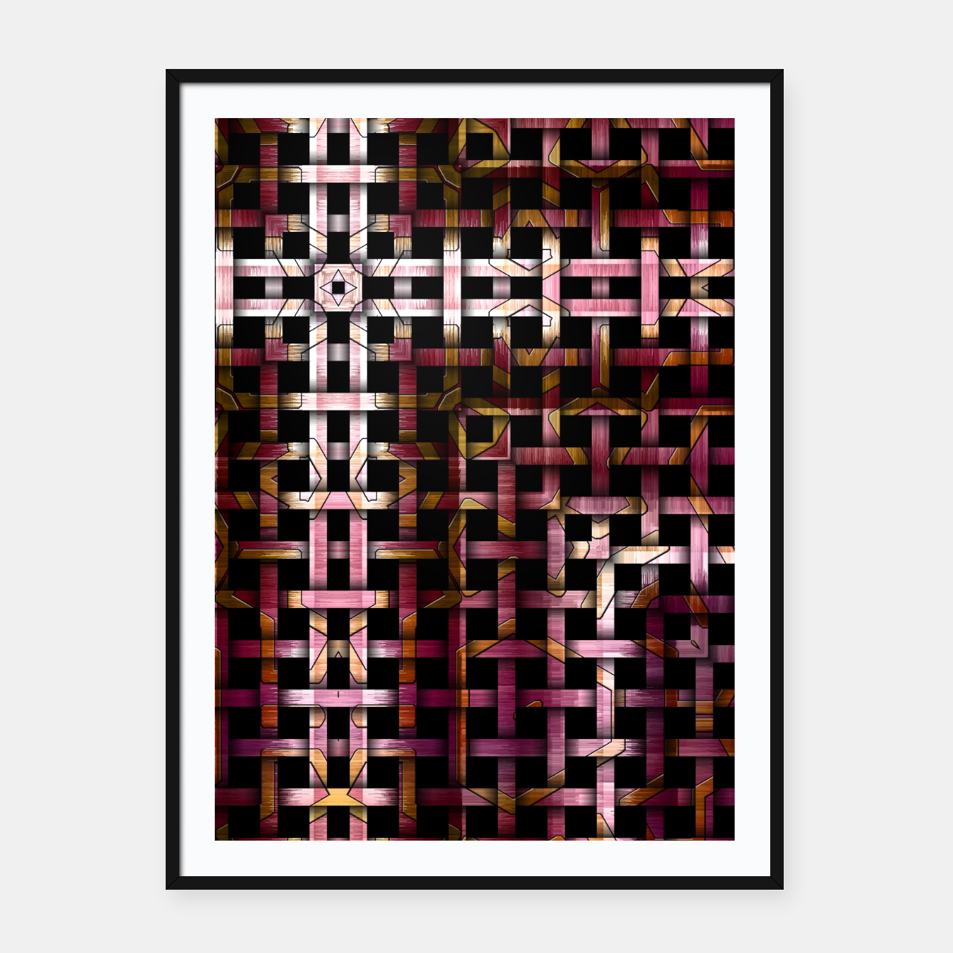 Image of Metallic Mesh Weave Framed poster - Live Heroes