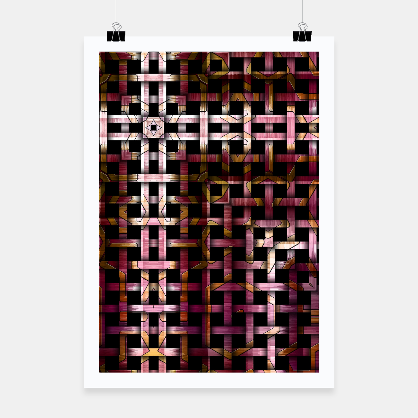 Image of Metallic Mesh Weave Poster - Live Heroes