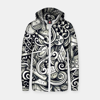 Thumbnail image of science doodle Cotton zip up hoodie, Live Heroes