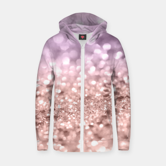 Miniaturka Rose Gold Blush Purple MERMAID Girls Glitter #1 #shiny #decor #art Baumwoll reißverschluss kapuzenpullover, Live Heroes