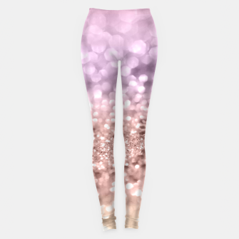 Imagen en miniatura de Rose Gold Blush Purple MERMAID Girls Glitter #1 #shiny #decor #art Leggings, Live Heroes