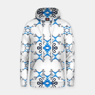 Thumbnail image of Shears on white Cotton hoodie, Live Heroes