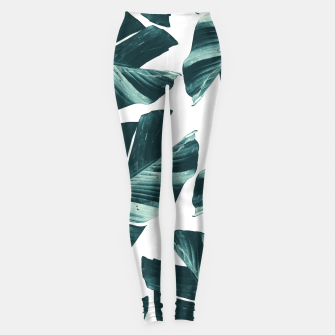 Imagen en miniatura de Tropical Banana Leaves Vibes #2 #foliage #decor #art Leggings, Live Heroes