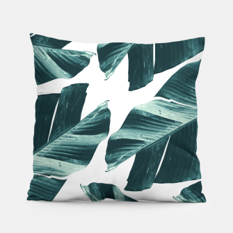 Thumbnail image of Tropical Banana Leaves Vibes #2 #foliage #decor #art Kissen, Live Heroes