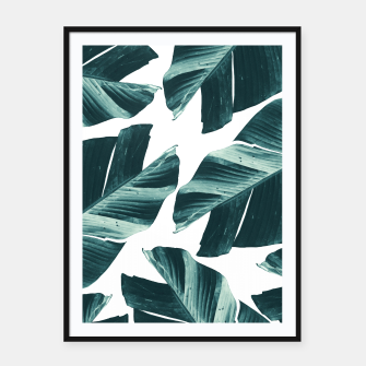 Thumbnail image of Tropical Banana Leaves Vibes #2 #foliage #decor #art Plakat mit rahmen, Live Heroes