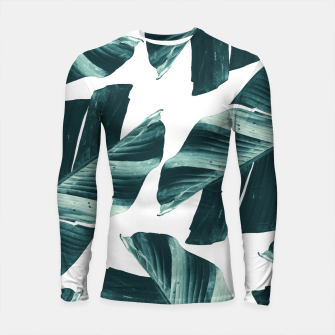 Thumbnail image of Tropical Banana Leaves Vibes #2 #foliage #decor #art Longsleeve rashguard, Live Heroes