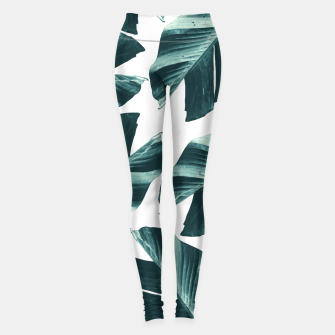 Thumbnail image of Tropical Banana Leaves Vibes #2 #foliage #decor #art Leggings, Live Heroes
