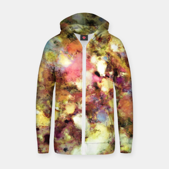 Thumbnail image of Discarded blooms Cotton zip up hoodie, Live Heroes