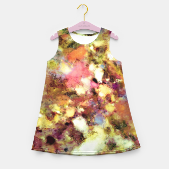 Miniaturka Discarded blooms Girl's summer dress, Live Heroes