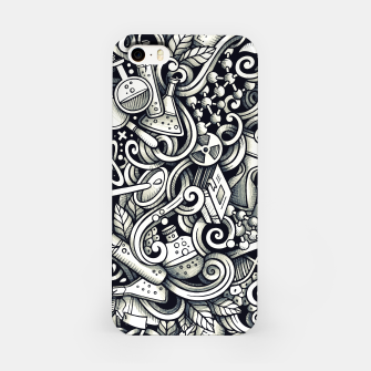Miniatur science doodle iPhone Case, Live Heroes