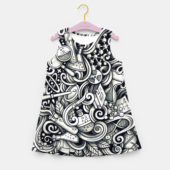 Miniaturka science doodle Girl's summer dress, Live Heroes