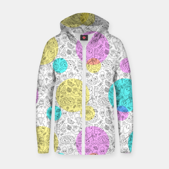 Thumbnail image of Food Coloring Book – Cotton zip up hoodie, Live Heroes