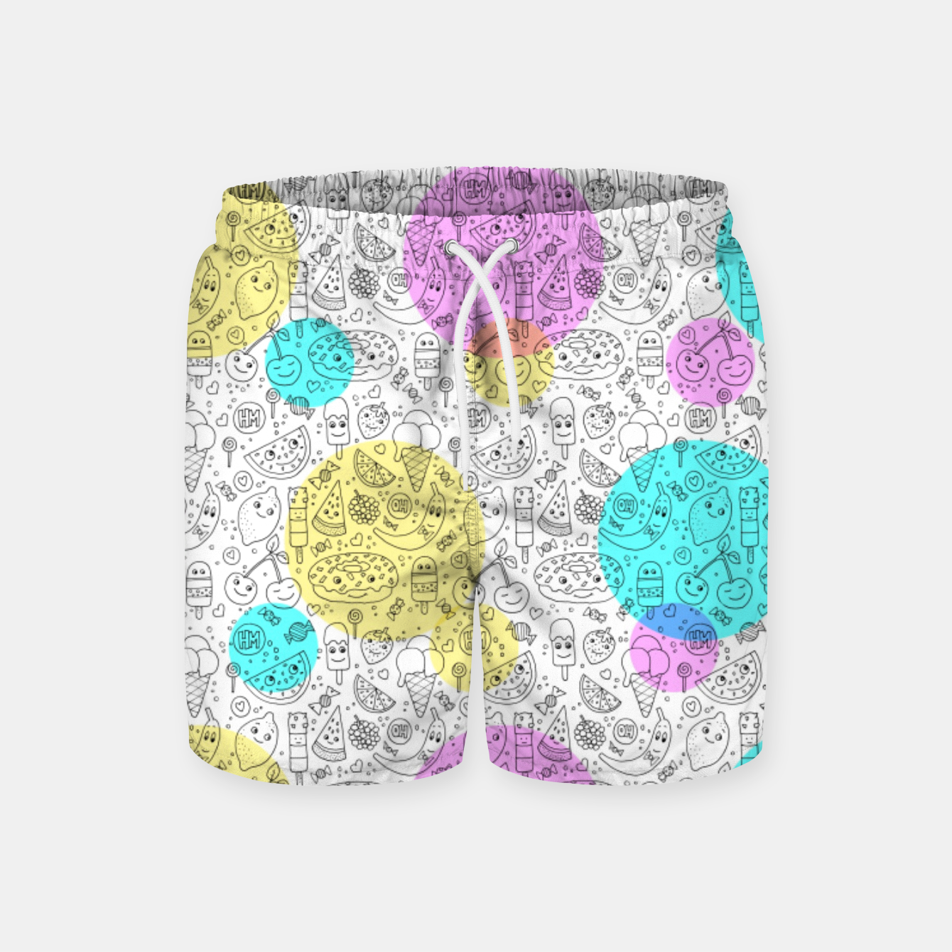 Image of Food Coloring Book – Swim Shorts - Live Heroes