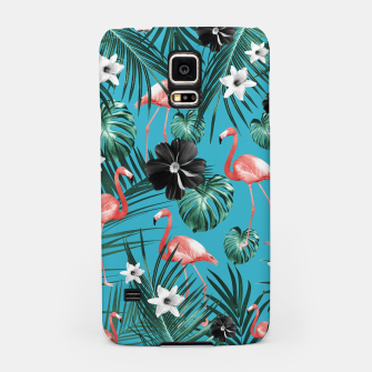 Imagen en miniatura de Tropical Flamingo Flower Jungle #2 #tropical #decor #art Handyhülle für Samsung, Live Heroes