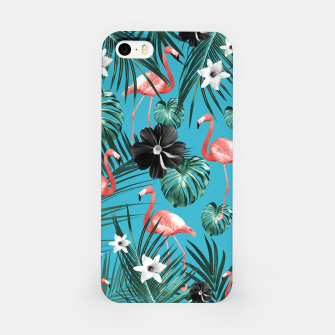 Miniatur Tropical Flamingo Flower Jungle #2 #tropical #decor #art iPhone-Hülle, Live Heroes