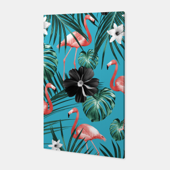 Imagen en miniatura de Tropical Flamingo Flower Jungle #2 #tropical #decor #art Canvas, Live Heroes
