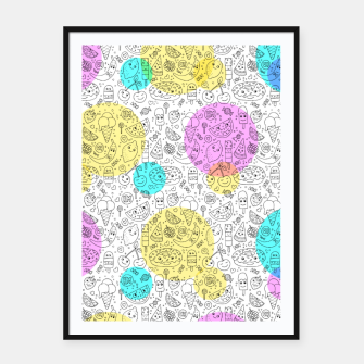 Food Coloring Book – Framed poster thumbnail image