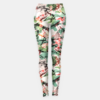 Thumbnail image of Modern mountainous Camo Leggings, Live Heroes