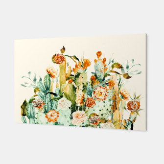 Thumbnail image of Succulent flowered cactus Canvas, Live Heroes