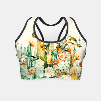 Thumbnail image of Succulent flowered cactus Crop Top, Live Heroes