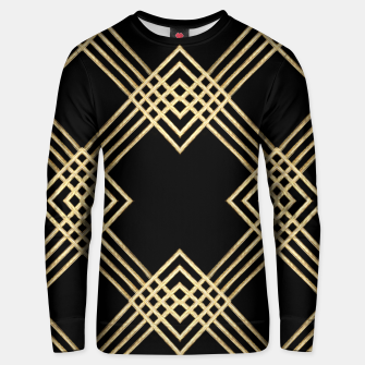 Miniatur Gold on Black Cotton sweater, Live Heroes
