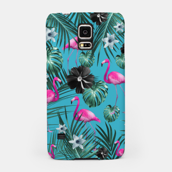 Thumbnail image of Tropical Flamingo Flower Jungle #1 #tropical #decor #art Handyhülle für Samsung, Live Heroes