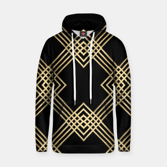 Thumbnail image of Gold on Black Cotton hoodie, Live Heroes