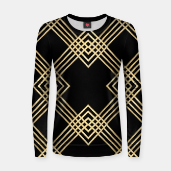 Miniature de image de Gold on Black Woman cotton sweater, Live Heroes