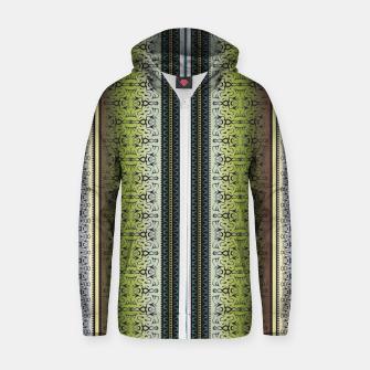 Miniatur Pattern1 Cotton zip up hoodie, Live Heroes