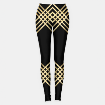 Miniature de image de Gold on Black Leggings, Live Heroes