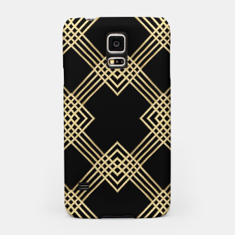 Miniatur Gold on Black Samsung Case, Live Heroes
