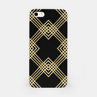 Miniatur Gold on Black iPhone Case, Live Heroes