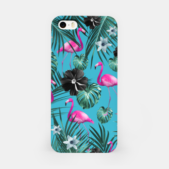 Miniatur Tropical Flamingo Flower Jungle #1 #tropical #decor #art iPhone-Hülle, Live Heroes