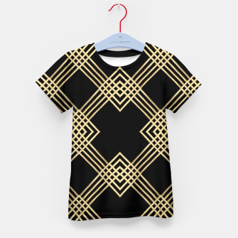 Miniature de image de Gold on Black Kid's t-shirt, Live Heroes