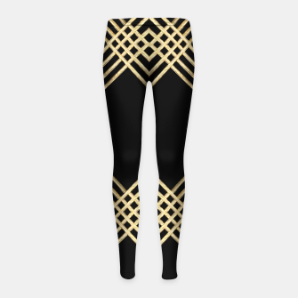 Miniature de image de Gold on Black Girl's leggings, Live Heroes