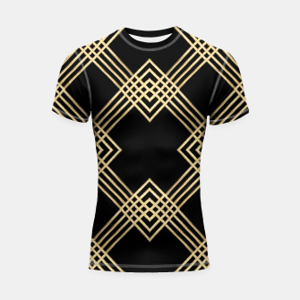 Miniature de image de Gold on Black Shortsleeve rashguard, Live Heroes