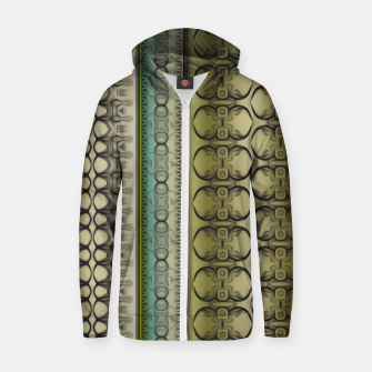Thumbnail image of Pattern2 Cotton zip up hoodie, Live Heroes